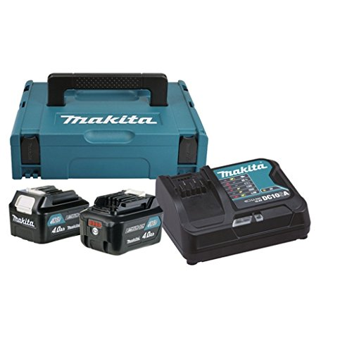 Makita 197636-5 Power Source Kit 10,8 V 4,0 Ah, 240 W, 230 V, Schwarz, Türkis, 30 x 450 mm