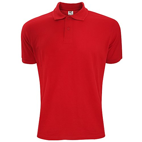 sg-mens-polycotton-short-sleeve-polo-shirt-s-red