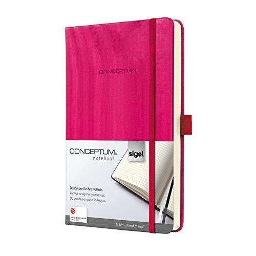 Preisvergleich Produktbild Sigel CO573 Notizbuch liniert, ca. A5, Hardcover, pink, CONCEPTUM - viele Farben und Größen