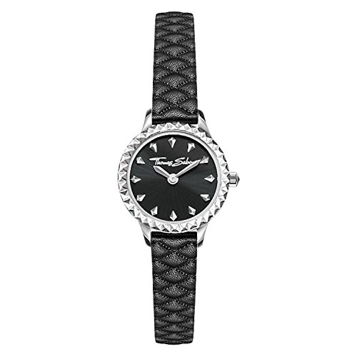 Thomas Sabo Women Ladies Watch Stainless Steel; Leather Black Leather Strap WA0328-203-203