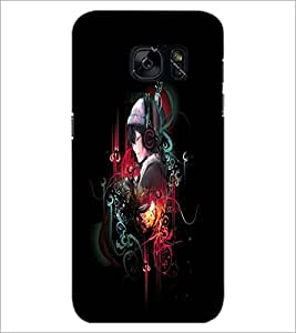 PrintDhaba Music Girl D-4548 Back Case Cover for SAMSUNG GALAXY S7 (Multi-Coloured)