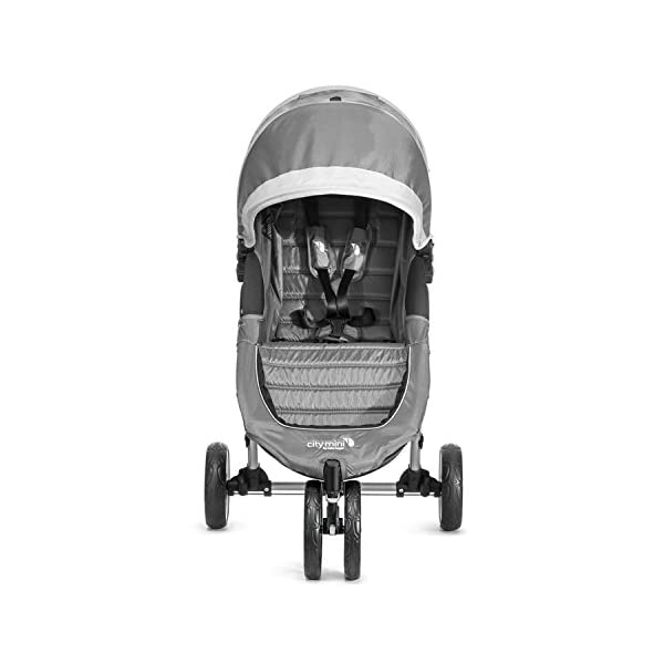 Baby Jogger City Mini Single Stroller Steel Grey Baby Jogger Suitable from birth, the City Mini Stroller is the essence of urban mobility: Lightweight, compact and nimble, its sleek and practical design makes it an ideal choice for traversing the urban jungle Lift a strap with one hand and the City Mini folds itself: Simply and compactly, it really is as easy as it sounds and the auto-lock will lock the fold for transportation or storage The fully reclining with vents and a retractable weather cover to make sure that your child is comfortable and safe as they watch the world go by the SPF 50+ hood canopy has two peek-a-boo windows so you can keep an eye on your precious cargo 9