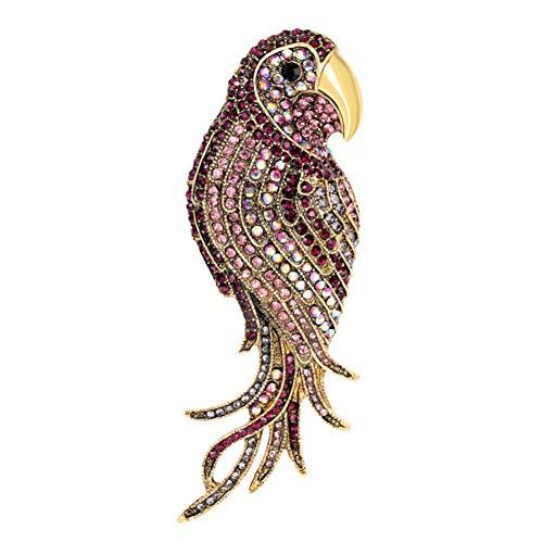 Fablcrew Brosche, Papagei Broschen Anhänger Brosche für Damen Kleid Kleidung Dekorative Pin Hochzeit Schmuck (Blau) -