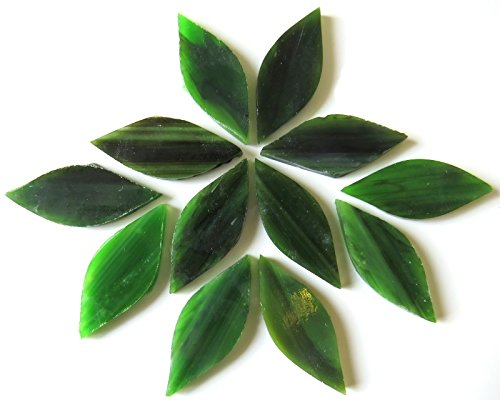 Craft Mosaik Fliesen-Kleine Blütenblätter-gebeizt Glas-Olive Grove 50g