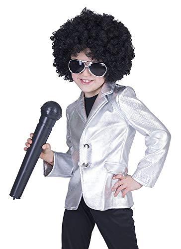Kostüm Disco 70er Fever Jahre Kinder - Disco Fever Metallic Jacke für Kinder - Silber Gr. 164