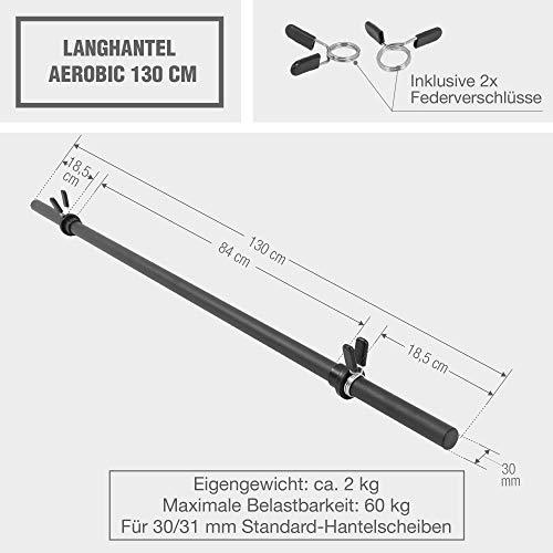 Gorilla Sports Langhantelstange mit Federverschluss im Test - 6