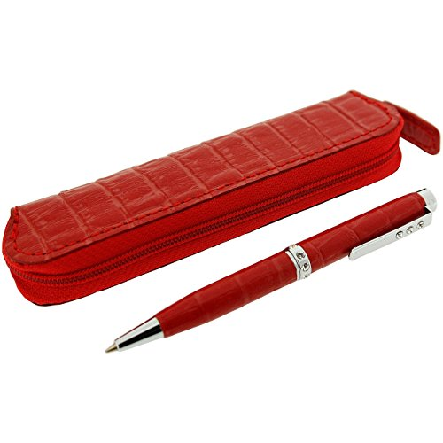 red-leatherette-pen-set-with-clear-rhinestones-with-leatherette-pouch-presentation-box-branded-oiw-g