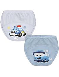 ZOEREA 2er-Pack Baby Trainerhosen Training Pants Kleinkind Mächen Jungen Windelhöschen Unterhose Trainerhosen Töpfchentraining