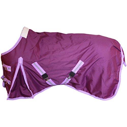 Weidedecke mit Polarfleeceinnenfutter 600D purple 135cm