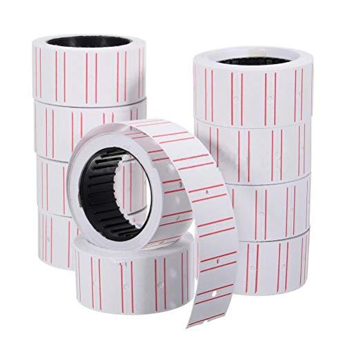 FADACAI 10 Rollen Preiskalkulation Etikettenpapier Tag Super Klebrige Tag Etiketten Tagging Für Etikettiermaschine MX-5500
