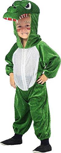 Kinder Kostüm Krokodil Alligator zu Karneval Fasching Gr.116