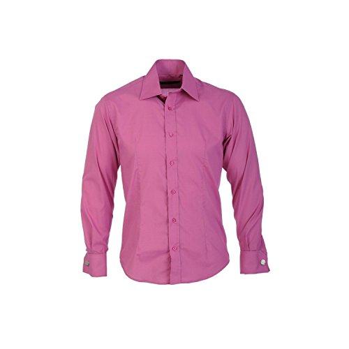 Guide London Herren-Manschettenknöpfe Men'LS71259 Shirt, Blush Mens Dress Shirt Blush