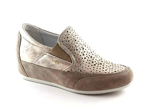 IGI&CO 77402 visone beige scarpe donna sneaker slip on zeppa interna Beige
