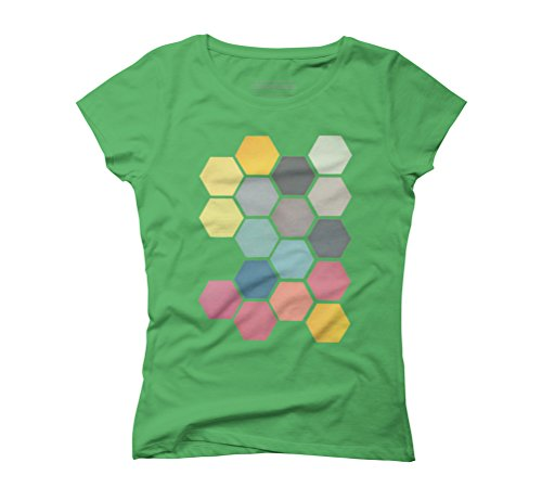 Honeycomb II Women's Graphic T-Shirt - Design By Humans Green