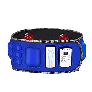 WAOBE Abdominal Belt Magnetic Massage – Elektrische Vibration Abnehmen Gürtel Multifunktions Verstellbare Körper Trimmen Taille Recover Body Shaper Training