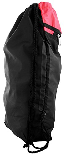 Best string bag in India 2020 Roadeez Polyester 2.5L Red and Black Drawstring Bag Image 3