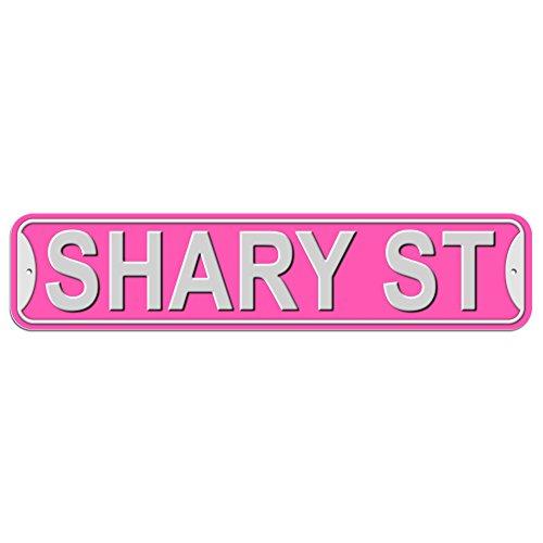 schary Schild–Kunststoff Wand Tür Street Road weiblich Name, plastik, rose, Street