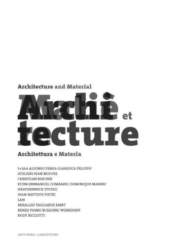 ARCHITECTURES ET MATIERES par Paul Ardenne