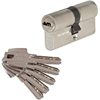 Tesa 3012432 Cilindro Seguridad T60 /30x40. Niquelado Leva Corta, 30x40mm
