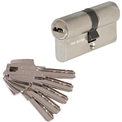 Tesa Assa Abloy 3012432 Cilindro Tesa Seguridad T60 /30x40. Niquelado leva corta, 30x40 mm