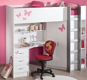 High Sleeper Calder White High Bed M227w