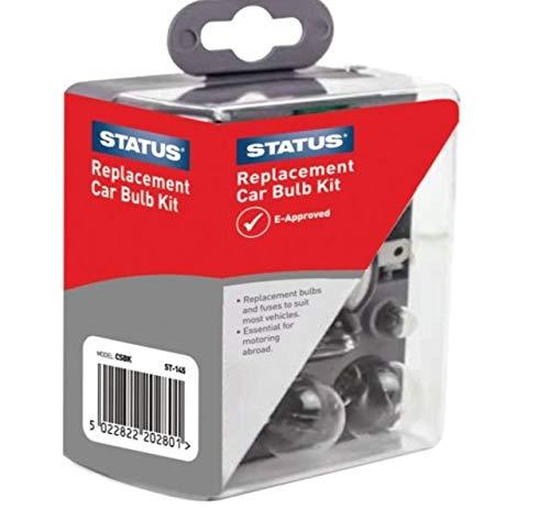 Status Solutions (STATUS Universal-Ersatz-Leuchtmittel-Sicherungsset 477 H7 472 H4 448 H1 382 P21W 380 P21/5W 207 R5W 501 W5W)