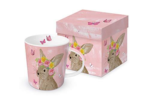 Home collection casa cucina stoviglie tazza da caffè americano motivo coniglio pasquale 0,35 l