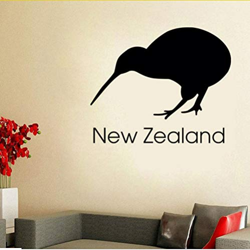 lbonb Neuseeland Kiwi Wandaufkleber Büro Wand-dekor Vinyl Abnehmbare Selbstklebende Vogel Wandbild Diy Dekoration 53 * 44 cm