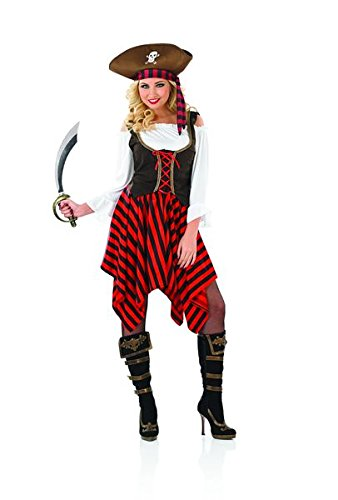Ladies-Caribbean-Buccaneer-Pirate-Girl-Fancy-Dress-Womens-Party-Costume-Outfit
