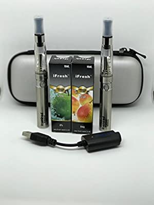 Electronic Cigarette Vaporizer Pen Twin Pack Starter Kit (silver) from inspired vapour