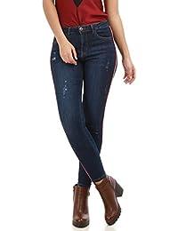 La Modeuse Jeans femme coupe skinny effet délavé