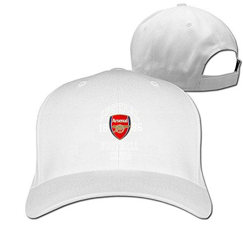 Arsenal FC Soccer Logo Baseball Snapback Cap White