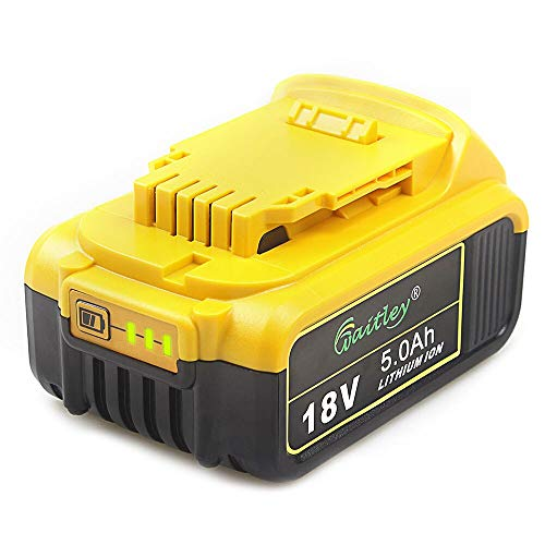 QUPER 18V 5.0Ah DCB184 MAX XR Lithium-Ionen-Akku Ersatz für Dewalt DCB180、DCB181、DCB182、DCB201、DCB201-2、DCB200、DCB200-2、DCB204-2、DCB205-2 18V Akku (Lithium-ionen-akku Dewalt 18v)