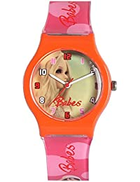 Fantasy World Babes Orange Watch For Kids With Freebie(1KeyRing,2Cartoon Magnet,3 Puzzle, 1 Sipper)