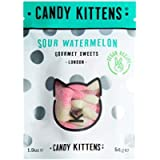 Candy Kittens Sour Watermelon Vegan Sweets - Palm Oil Free, Natural Fruit Flavour Candy - Gummy Chewy Gourmet Sweets…