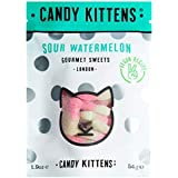 Candy Kittens Sour Watermelon Vegan Sweets - Palm Oil Free, Natural Fruit Flavour Candy - Gummy Chewy Gourmet Sweets, 54g (Po