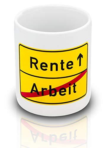 Kaffeetasse zum Renteneintritt - Lustiges Geschenk für Männer, Frauen, Kollegen, Lehrer, Lehrerin in Pension - Witzige Geschenke Tasse für Rentner zum Ruhestand - Geschenke zur Abschied-Karte
