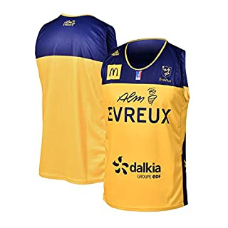ALM Evreux Trainers ALM Evreux Official Home Jersey 2018-2019 Basketball Child, Children's, MAILDOMEVR, yellow, FR : XXS (Taille Fabricant : 10 ans)