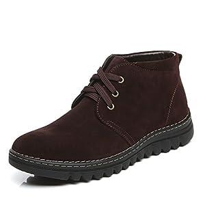Botas de snowmoblie del Bota caliente impermeable Hola zapatos-B Longitud del pie=25.8CM(10.2Inch)