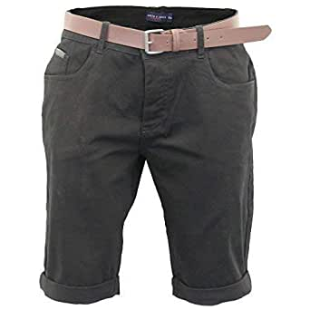 Mens Chino Shorts Smith and Jones Slim Fit Button Fly Summer Cotton Half Pant