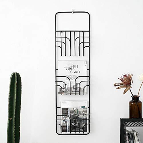 Kitchen furniture - Support de fer nordique simple étagère murale salon étagère décorative porte-revues suspendu WXP (Couleur : NOIR)