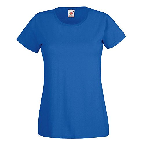 Fruit of the Loom - Lady-Fit Valueweight T - Modell 2013 S,Royal (S/s T-shirt Royal)