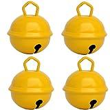 Glöckchen Gelb Farbe - 4 X Glöckchen schellen 24mm – schön laut sound - Mehr als 16 farben in 3 Größen Glöckchen zum basteln, kreatives Gestalten baby, kinder, senioren