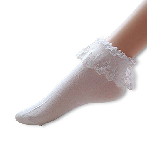 Imixcity Vintage Lace Ruffle Frilly Ankle Socks Fashion Ladies Princess Girl Gift 5 Color