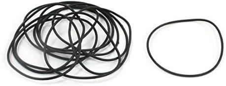 DealMux 5Pairs 33 mm Diámetro externo de 1 mm Sección transversal Industrial Rubber O anillos de estanqueidad