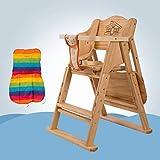 ZLMI Massivholz Babystuhl Portable Folding BB Hocker Mehrzweck-Essens Sitz 0-6 Jahre Alt,Metallic,A