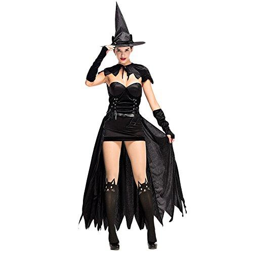 Costour Damenbekleidung Halloween Hexenkostüm Schwarze Katze Sexy Partykleid Cosplay Aufführung (Machen Katze Halloween Kostüm)