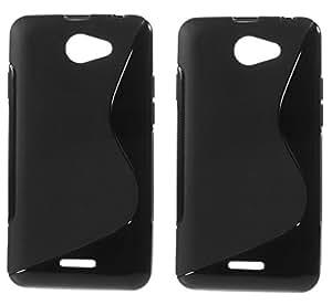 S LINE Anti Skid Gel TPU Slim Soft Case Cover forHTC Desire 516 (Value for Money Set of 2)