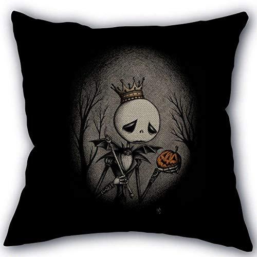 WOXIHUANDE Albtraum Vor Weihnachten Halloween Benutzerdefinierte Leinen Baumwolle Kissenbezug Home Dekorative, 2