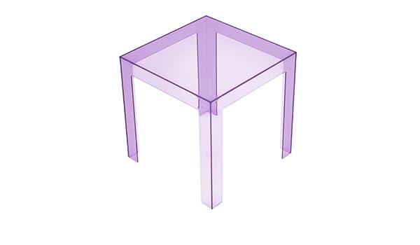 Kartell 8850y3 jolly tavolino colore: viola: amazon.it: casa e cucina